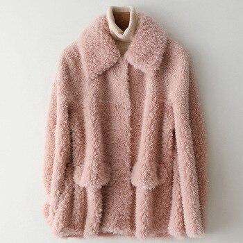 Abrigo de invierno para Mujer, ropa de otoño, Tops Shealrling de oveja,...