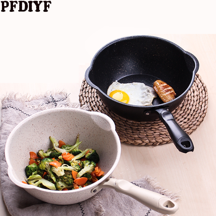 Hot Medical Stone Non-stick Wok Household Cooking Frying Pan Dual-purpose Flat-bottomed IInduction Cooker Gas Stove Universal