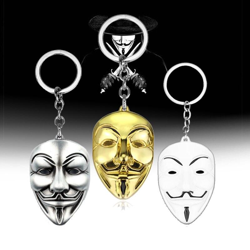 Клоун V для вендетты брелок аноним Маска Гая металлический брелок для мужчин женщин детей Рождественский подарок