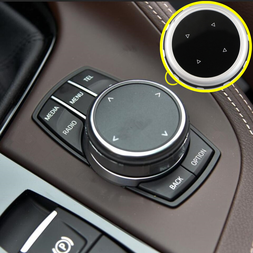 Zlord Car Multimedia Modify Button Knob Cover For BMW X1 F48 X3 X5 X6 F30 E90 E92 F10 F18 F11 F07 GT Z4 F15 F16 F25 E60 E61