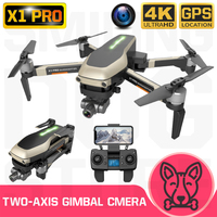 RC Quadcopter X1 Pro Drone 4K GPS HD Gimbal Camera 5G WIFI FPV Brushless Motor SD Card Drones Professional VS SG906Pro X35 K1 F8