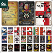 Putuo Decor WDF World Cup Vintage Sign Country Posters Retro Metal Poster Tin Plaque Wall Decor Garage Man Cave Vintage Signs