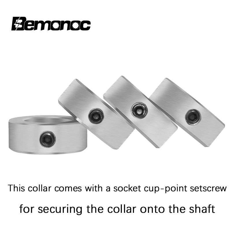 1 Shaft Set Screw Solid Steel Collar Stop zinc Plated 1 inch Collars