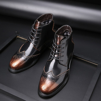 Men's Martin Boots Fashion New Autumn Round Head Casual Men's Boots Men's Lace Comfortable High Quality Martin Boots