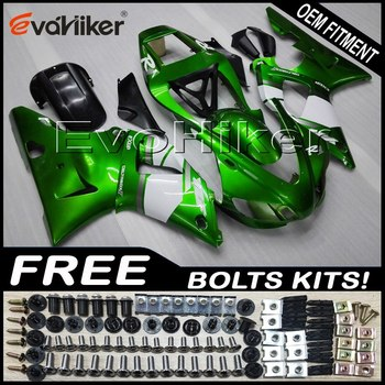 Custom motorcycle fairing for YZF-R1 2000-2001 ABS plastic motorcycle hull Injection mold green+Gifts