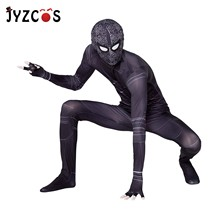 JYZCOS Halloween Costume Shadow Spider-Man Costumes Adults Children Kids 2019 Hero Expedition Stealth Zentai Suit Cosplay Tights