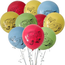 10pcs/lot 12inch Car Happy Birthday Truck Latex Balloon Cartoon Cars Helium Balon Kids Birthday Decor Boys Party Supplies Favor(China)