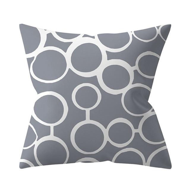 Cushion Cover 45x45 Decorative Pillowcase Grey Geometry Throw Pillows Polyester Sofa Cushions Nordic Home Decor Pillow cases