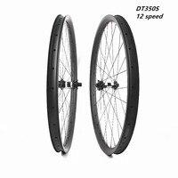 Leve 29er disco mtb rodas assimetria 30x25mm dt350s 12 impulso de velocidade 110x15 148x12 pillar1420 rodas de bicicleta sem câmara 1310g