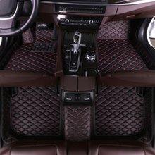 цена на Xiaobaishu Leather Car Floor Mats for Toyota Corolla 2007-2014 2015 2016 2017 2018 Custom Auto Foot Pads Automobile Carpet Cover