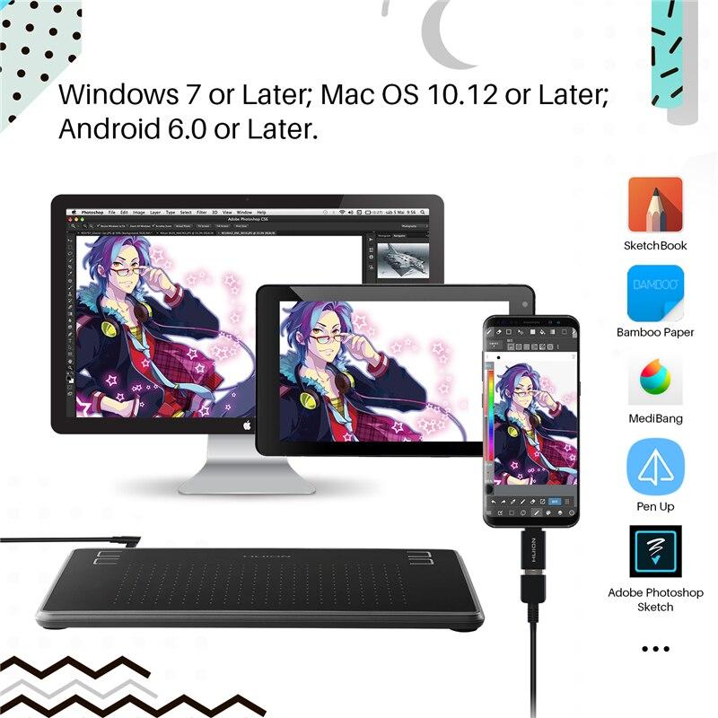 планшет huion h430p
