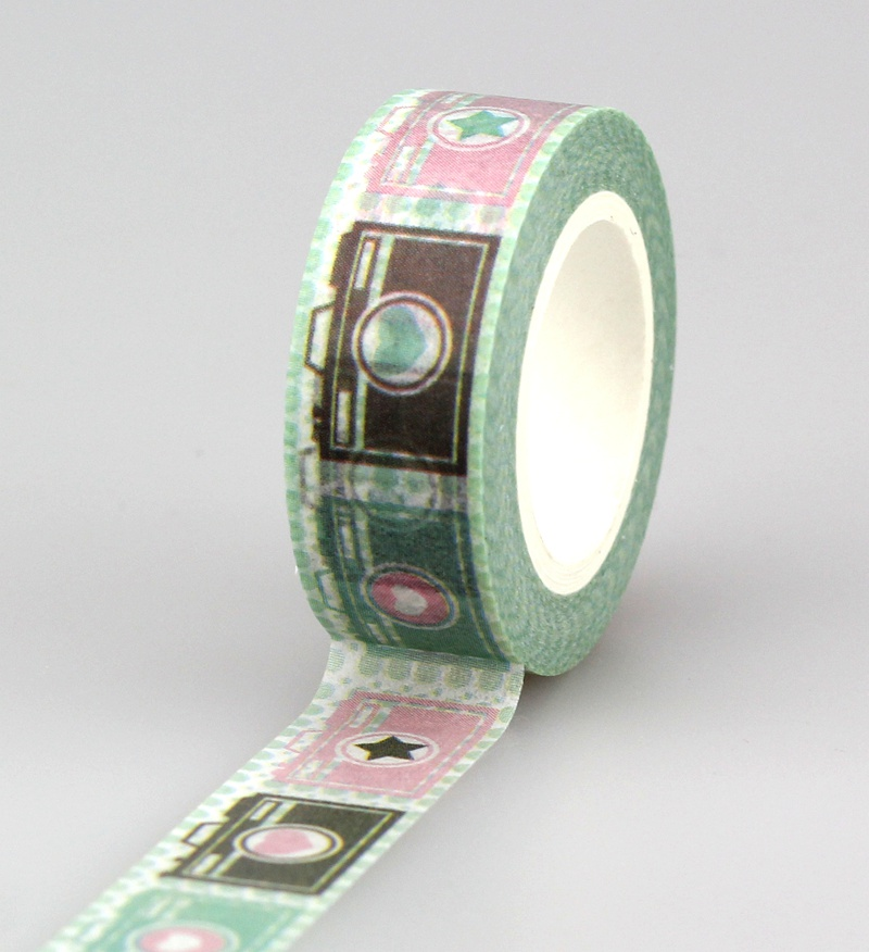 Wholesale 10PCS/lot Decorative Cameras Washi Tapes Paper For Scrapbook Bullet Journal Adhesive Masking Tapes School Supply
