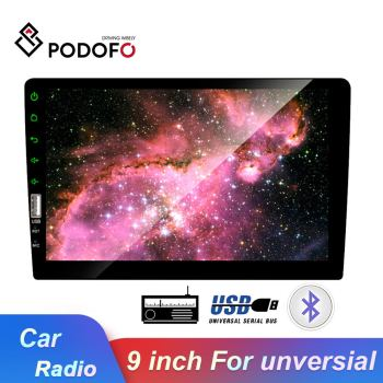 Podofo 2 Din 9 Inch Car Multimedia Player Android IOS Mirror Link Car Radio Mp5 Car Stereo Player Bluetooth USB FM Auto-Radio image