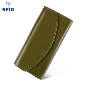Image 5 - Luxe en cuir véritable sacs à main femme portefeuille longue pochette sacs femmes portefeuilles avec coque de téléphone femme RfidCard titulaire Carteira