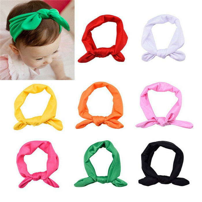 2020 Brand Infant Girls Baby Headband New Toddler Bow Flower Hair Band Solid Cute Accessories Headwear 4 Colors