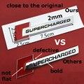 Красный  черный Алмазный Блок  значки  текстовая Эмблема Для Audi SUPERCHARGED A4 A5 A6L Q3 Q5 Q7  Стайлинг автомобиля  багажника  брызговика  логотип  накле...