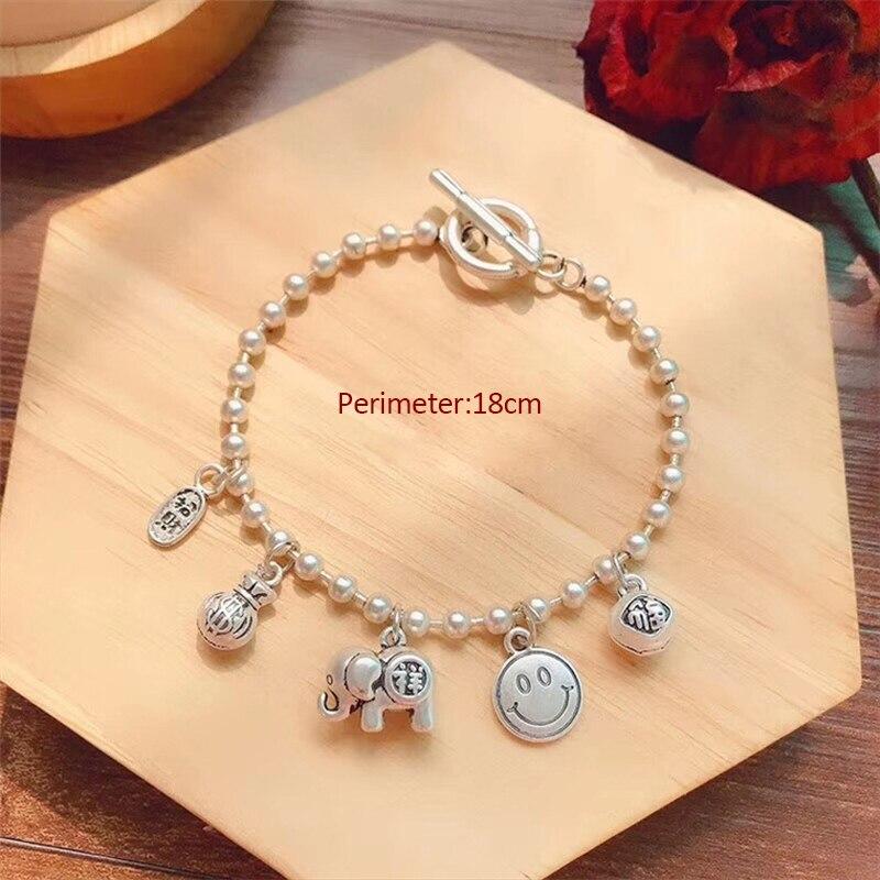 New alloy bracelet retro immediately rich hand string lucky bag animal lucky cat bracelet fashion bracelet jewelry