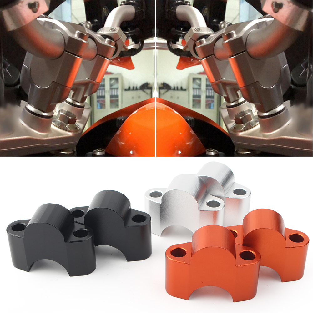 For KTM Duke 125 200 390 Motorcycle Handlebar Fat Bar Risers Cap Mount Clamp Fit 2011 2012 2013 2014 2015 2016 2PCS image