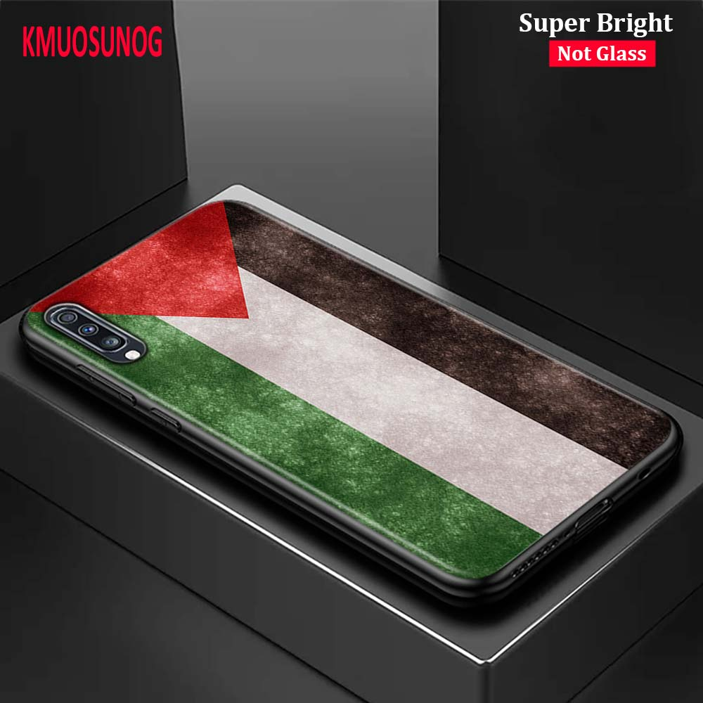 Black Cover Palestinian <font><b>flags</b></font> for <font><b>Samsung</b></font> Galaxy A70 A90 A80 A60 A50 A40 A30S A20E A20S <font><b>A10</b></font> Phone Case image