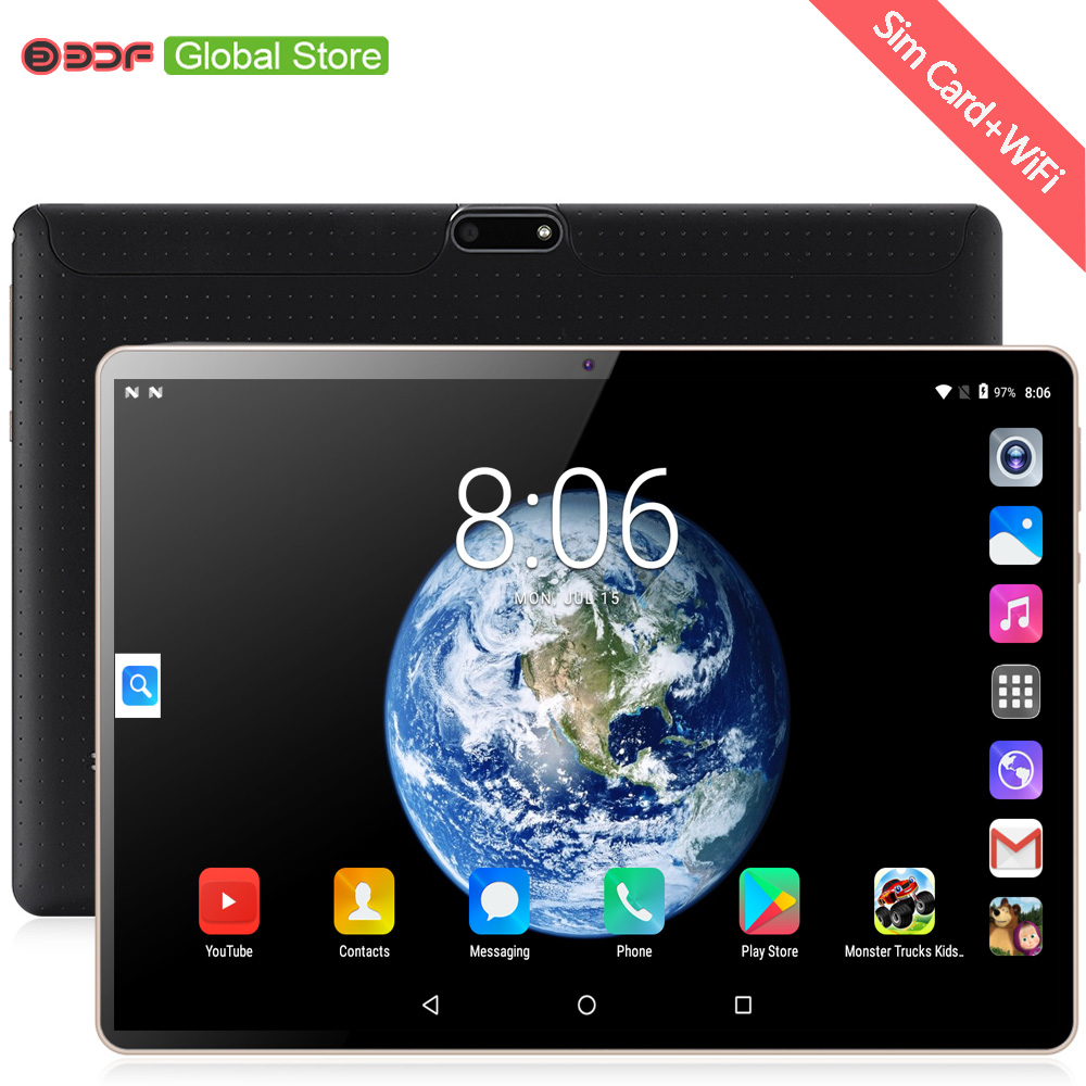 10 Inch Original 3G Phone Call SIM Card Android 7.0 Octa Core CE Brand WiFi GPS FM Tablet Pc 4GB+64GB Android Tablet Pc 7 8 Tab