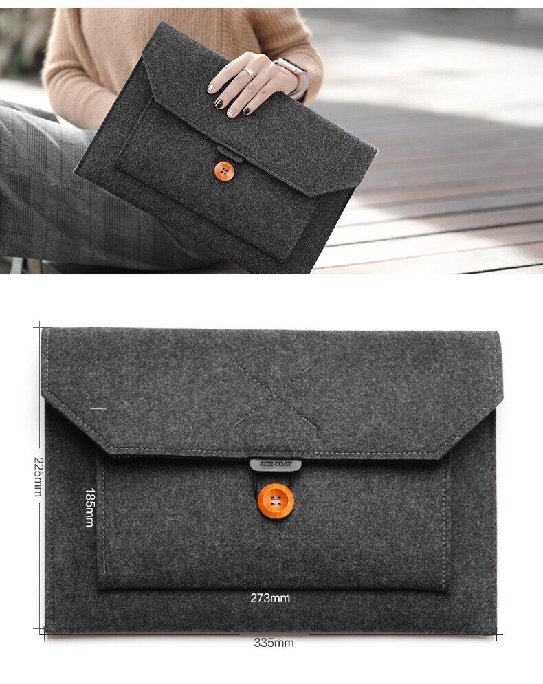 11 12 13 15 Fashion Wool Felt Laptop Sleeve Bag Notebook Handbag Case For Macbook Air Pro Retina Lenovo Asus HP Laptop Liner Bag (15)
