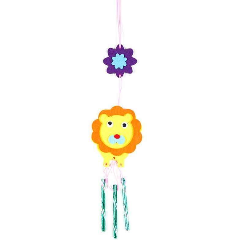 DIY Wind Chime niños hechos a mano dibujos animados Animal no tejido pasta que hace Material paquete niños niñas regalos 634F