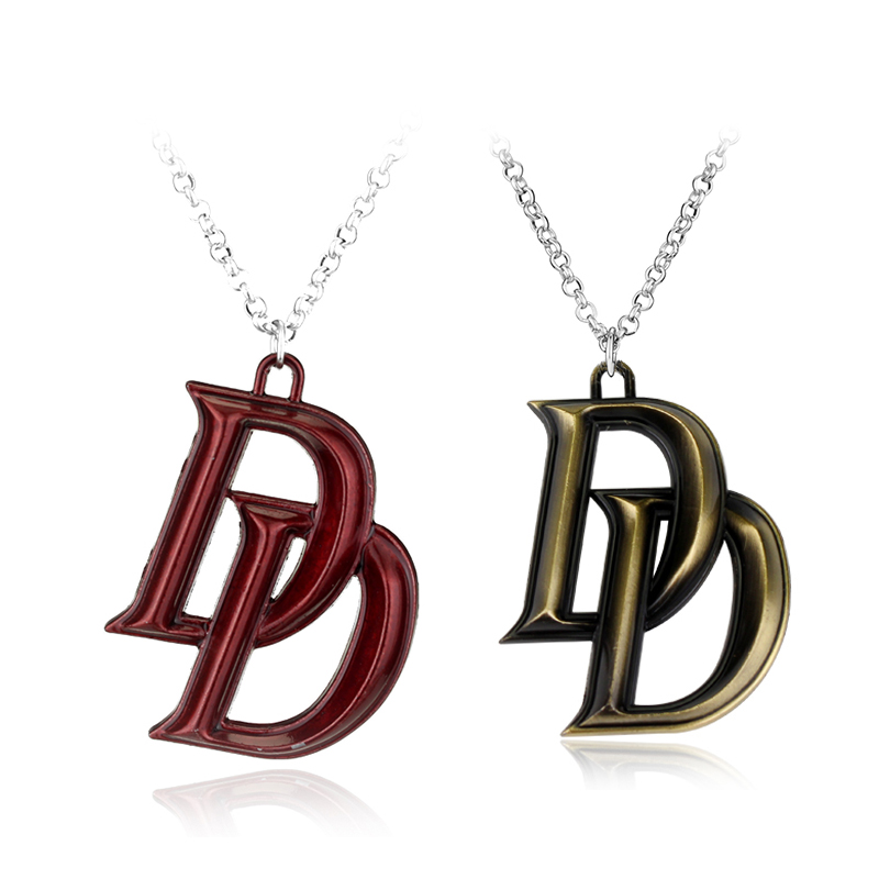 Movie Series Marvel Jewelry Comics Superhero Daredevil Double D Letter Necklace Latest Fashion Accessories Gift image