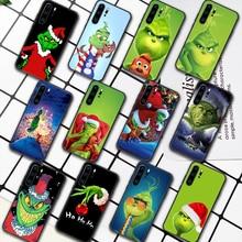 G-Grinch Stole Christmas Cartoon Phone Case For Huawei P Mate 10 20 30 40 Pro Lite Smart 2019 2021 black Hoesjes 3D Prime Tpu