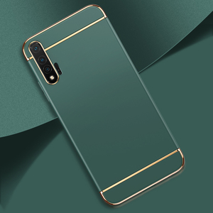 Image 2 - 3 IN 1 Electroplating Luxury Protective Case For Huawei P20 P30 Lite P40 Lite Honor 20 Pro 10 Lite 8X 10i 9A 8 30 P smart 2019 Z