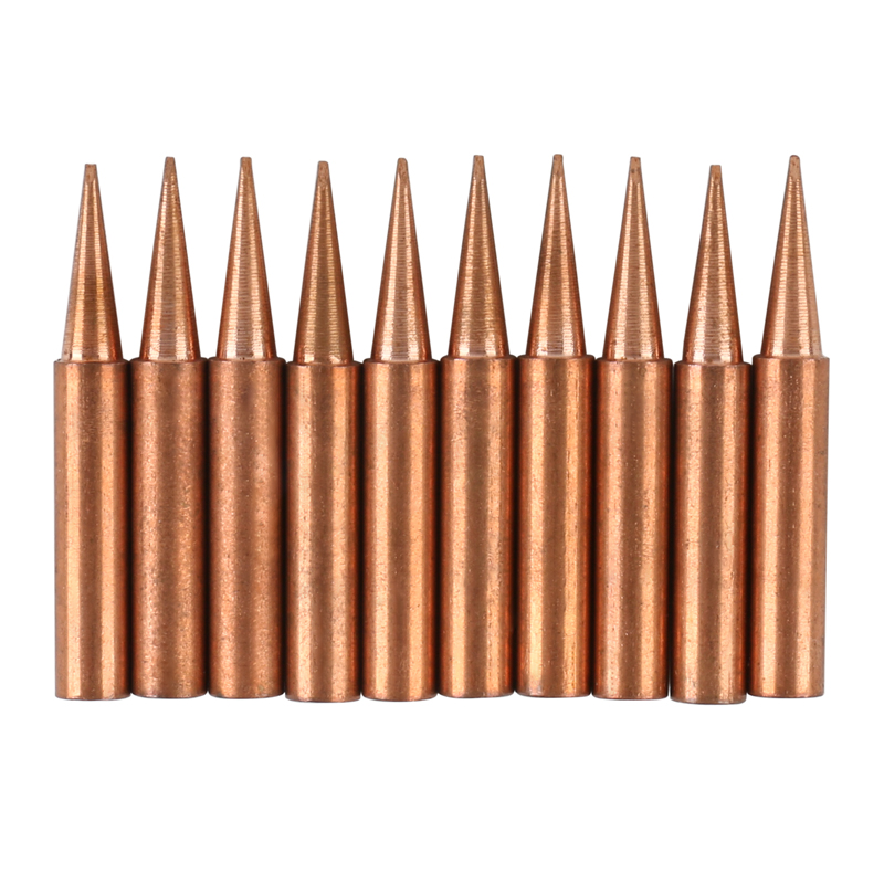10pcs/lot Copper Soldering Iron Tips <font><b>900M</b></font>-<font><b>T</b></font> D rype Welding Sting Soldering Accessories For Lucky/936D/ATTEN soldering station image