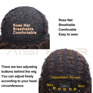 Image 5 - AISI HAIR Soft Short Synthetic Wigs for Black Women 14 inch Dreadlock Ombre Burg Crochet Twist Hair Heat Resistant Fiber