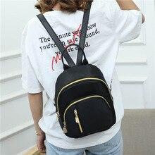Мини рюкзаки для женщин водонепроницаемый нейлон рюкзак черный рюкзак женские милые рюкзак рюкзак рюкзаки для подростков девочек маленькие сумки