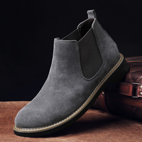 Mens Boots Men Chelsea Boots Ankle Boots Plus Velvet High top Martin Boots Outdoor Walking Shoes Wear Resistant Casual Shoes