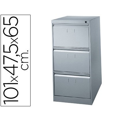 FILE DRAWER SOIL 'S METALLIC DE 3 DRAWER 101 HIGH, 65 PROF 47,5 WIDE COLOR GREY N1375