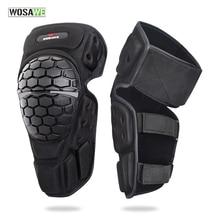 WOSAWE Sports Motorcycle Knee Protector Eblow Pads Ski Snowboard Skate Cycling Knee Brace Support Motocross Joelheira Moto Ridng