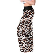 Pants Drawstring Loose Floral-Print A20 Wide Plus-Size Summer Casual 5XL Women's