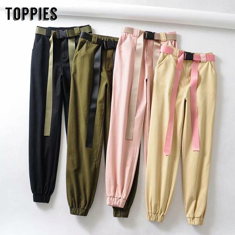 Pink Sweatpants Women Joggers High Waist Army Green Trousers Harajuku Korean Women Clothes