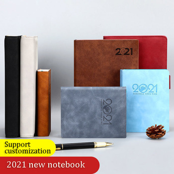 2021 Notebook Books Schedule Plan 365 Days Daily Calendar Notepad Self-Discipline Punch Card Efficiency Libro Business Office image