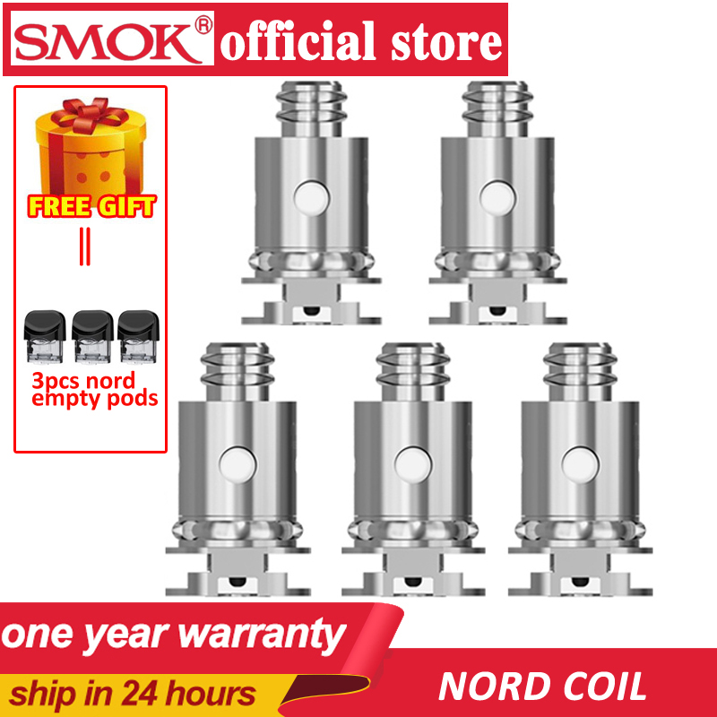 New In Stock! 5pcs SMOK Nord Coils Nord Regular Mesh Ceramic Regular DC Coils For Nord Pod VS Novo Pod Coils