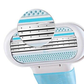 цена на Shaving Blades For Women Safety Sharpener razor For Razor Blade for shaving 3 layers blade