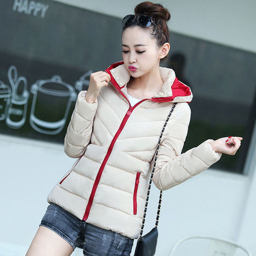 H94a088af0db140ee91ed608020880a5fI fashion Women's Jackets Hooded Thickening Slim Outwear Winter Warm Casual Short Jacket Women Coat Outwear Tops