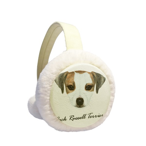 Jack Russell Terrier Dog Pet Animal Winter Earmuffs Ear Warmers Faux Fur Foldable Plush Outdoor Gift