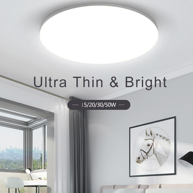 Panneau lumineux LED 220V moderne UFO plafonniers luminaire 15/20/30/50W Surface montage panneau lampe Downlights pour la maison