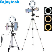 New Arrival Mini Tripod with 16cm LED Ring Flash Dual Mount Holders for Mobile Phones Live Video Streaming Vlog Bloggers