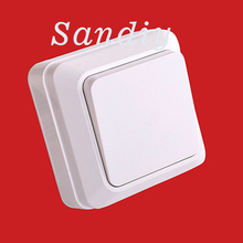 Wall Switch 10A Eu 1 2 Gang 1 2 Way Installed directly Push Button Switch Wall Light Switch PC Frame Panel On Off Lamp Switch cheap SANDIY Plastic Switches 1 Year KG_MZWZ Toggle Switch