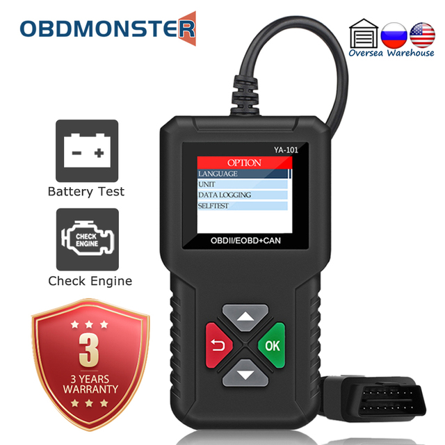YA101 Volledige OBD2 Scanner Obdii Code Reader Car Diagnostic Tool OBD2 12V Automotive Scanner Engine Analyzer OBD2 Auto Scan tool