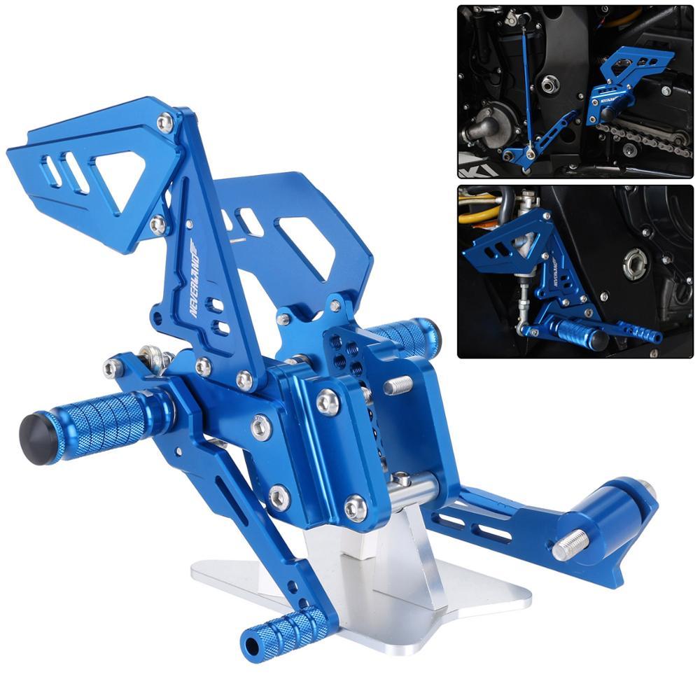 B Estilo Azul Da Motocicleta Apoio Para Os Pés Traseiros Pé Pegs Pedal Set Para Suzuli GSXR GSX R 600 750 GSX-R D40