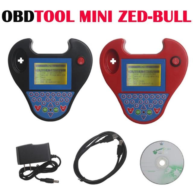New Auto Key Programmer Smart Mini Zed Bull Smart Zedbull 2 Colors Valiable Auto Key Transponder Cloning Device Finding PIN Code