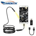 Endoscope Camera 7mm Flexible IP67 Waterproof 6 Adjustable LEDs Inspection Borescope Camera Micro USB OTG Type C for Android PC