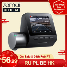 70mai kamera na deskę rozdzielczą Pro Plus 1944P wbudowany GPS ADAS 70mai Plus kamera samochodowa podwójna kamera 70mai Plus A500 A500S wideorejestrator samochodowy 24H Parking